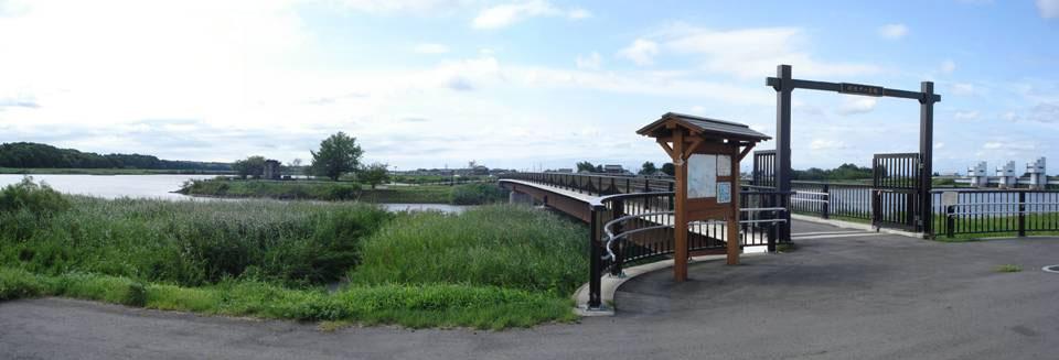 岡堰中の島橋